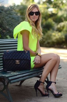 Making a bold statement with this neon dress!