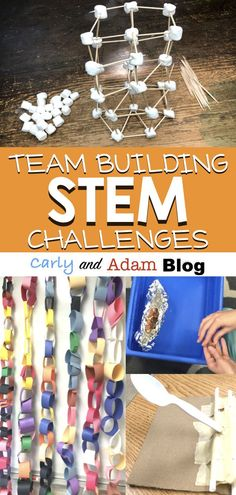 Building Teamwork at the Beginning of the Year with STEM: Start introducing students to STEM at the beginning of the year all while encouraging commun. - STEM / STEAM Learning and Teaching - Education Middle School Activities, Middle School Science, Elementary Science, Middle School Stem, Middle School Crafts, High School, Teamwork Activities, Science Activities, Classroom Team Building Activities