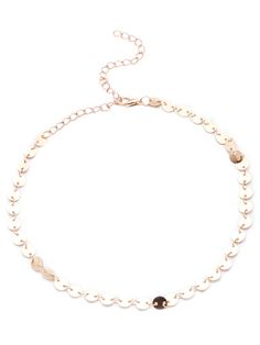 Gold Rounds Linked Choker Necklace — 0.00 € ---------------------color: Gold size: None
