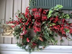 My front door Christmas wreath!