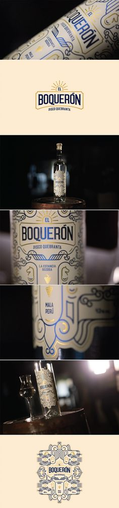 El Boqueron Pisco Quebranta Peruvian Brandy — The Dieline | Packaging & Branding Design & Innovation News