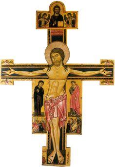 Maestro della Croce n. 434 e Bonaventura Berlinghieri  - Crocifisso di Tereglio - 1240 ca. - Chiesa di santa Maria Assunta - Tereglio (Lucca)