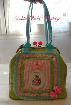 Bolso de boquilla vintage hechos a mano. http//lolitasala.es Vintage