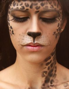 This leopard makeup is awesome.