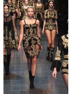 Needlepoint at Milan Fashion week.