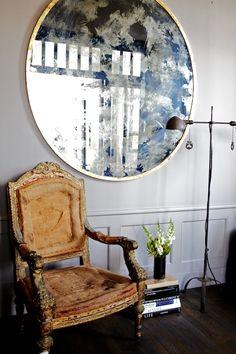 love this mirror Via a perfect gray.