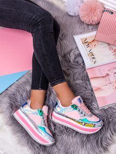 Dámské zajímavé růžové vícebarevné tenisky A-7572R Vans Old Skool, Sport, Sneakers, Fashion, Tennis Sneakers, Deporte, Slippers, Fashion Styles, Sports