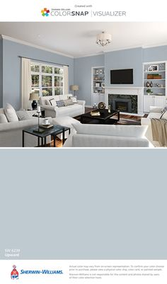 I found this color with ColorSnap® Visualizer for iPhone by Sherwin-Williams: Upward (SW 6239).