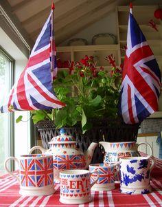 Jubilee Emma Bridgewater Pottery display - Rule Britannia!
