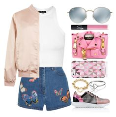 """Untitled #216"" by barijeziberi ❤ liked on Polyvore featuring Valentino, Ray-Ban, Topshop, Cameo Rose, NARS Cosmetics, Moschino, Karl Lagerfeld, Kate Spade and Tiffany & Co."