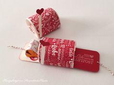Kleine Mailbox in rot und weiß