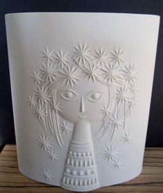 Hornsea Star Sparkler Girl vase