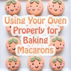 Macaron success can depend on how you use your oven. See how to use your oven properly for baking macarons (how to bake cookies tips) Cookie Desserts, Just Desserts, Cookie Recipes, Delicious Desserts, French Macaroon Recipes, French Macaroons, Best Macaron Recipe, Macaron Troubleshooting, Macaron Filling