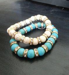 Majestic pave beaded bracelet