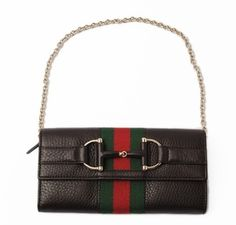 Gucci Black Leather Heritage Clutch $895