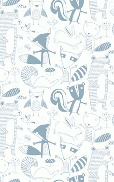 Friendly Forest | Loboloup  Loboloup, specializes in contemporary wallpaper for kids