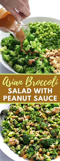 This Asian Broccoli Salad formula is made with crisp and straightforward fixings, and beat with a scrumptious shelled nut sauce. Vegan Broccoli Salad, Asian Broccoli, Broccoli Recipes, Easy Salad Recipes, Easy Salads, Vegetarian Recipes, Healthy Recipes, Vegan Vegetarian, Salad Sauce