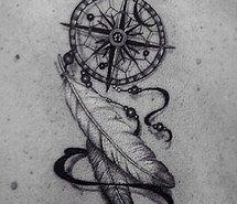 dream catcher compass tattoo - Google Search
