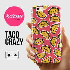 Taco iPhone 6 case - cartoon cute kawaii taco phone case for the iPhone 6 by Rock Steady Cases. (Also available as phone cases for the models