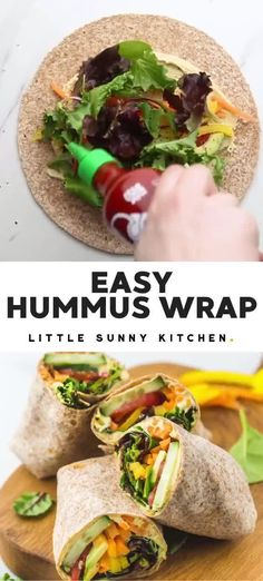 Healthy Meal Prep, Healthy Dinner Recipes, Whole Food Recipes, Healthy Snacks, Vegetarian Recipes, Healthy Eating, Cooking Recipes, Easy Recipes For Lunch, Recipes With Hummus