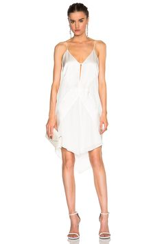 Image 1 of Mason by Michelle Mason Contrast Slip Dress in Ivory