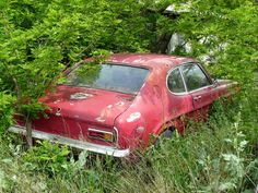 Abandoned Vehicles, Abandoned Cars, Car Barn, Rust In Peace, Mk 1, Ford Capri, Rusty Cars, Ford Classic Cars, London Transport