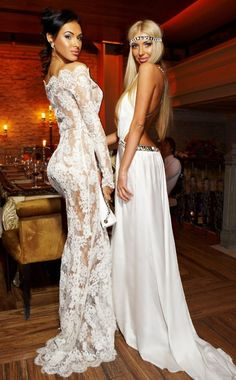 I LOVE the dress on the left ***IF*** It was lined with white underneath