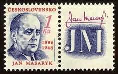 Jan Masaryk (1886-1948), diplomat Czech Republic, Postage Stamps, Booklet, Anniversary, Baseball Cards, Seals, World, Souvenir, Historia