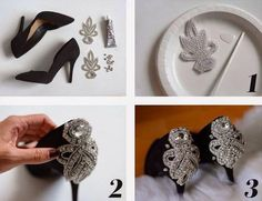 Great idea for the wedding shoes! Style them like you want it to be.