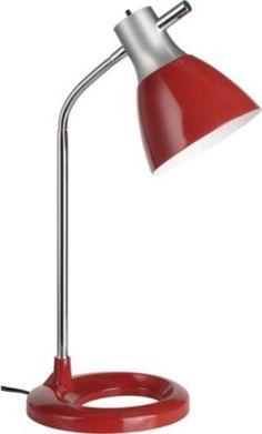 Brilliant Moderne Tischleuchte Jan, silber/rot Jetzt bestellen unter: https://moebel.ladendirekt.de/lampen/tischleuchten/beistelltischlampen/?uid=41a66b8e-1f08-549f-8c73-01508b17bd27&utm_source=pinterest&utm_medium=pin&utm_campaign=boards #heim #lampen #tischleuchten #beistelltischlampen