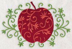 Elegant Filigree Apple
