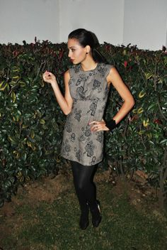 The Perfect Combo - Tunic and Tights Shirt Dress, T Shirt, Tights, Runway, Tunic, Dresses, Fashion, Cat Walk, Gowns