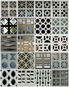 Awesome Breeze Blocks Design Ideas For Elegant Home Decorative Concrete Blocks, Concrete Block Walls, Cement Walls, Dude Perfect, Cinder Block Furniture, Cinder Blocks, Breeze Block Wall, Mid Century Exterior, Dream Home Design