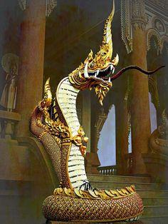 Witch King Of Angmar, Styrofoam Art, Mythical Dragons, Snake Art, Lord Shiva Painting, Water Dragon, Thai Art, Koh Tao, Religious Art