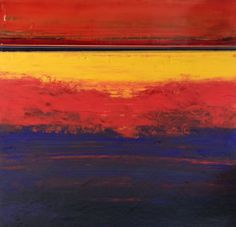 Sonoran Sun, Stephanie Paige, mixed media. #abstractart #summerofcolor