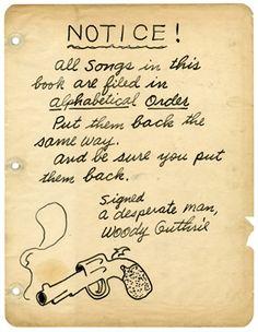 Woody Guthrie Songs