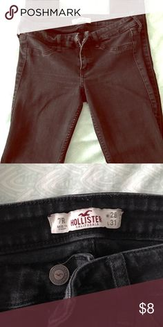 Hollister Super Skinny Jeans Slightly distressed coloring with no holes or wear. Super skinny fit Hollister Pants Skinny