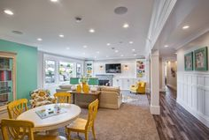 bright and colorful basement | Highland Custom Homes