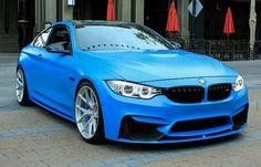 Matte Blue BMW