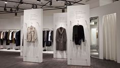 for each jersey style Display Design, Booth Design, Store Design, Retail Interior Design, Boutique Interior, Margaret Howell, Denim Display, Fashion Window Display, Clothing Store Displays