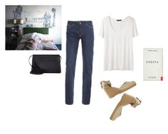"""#008"" by flaneurforever ❤ liked on Polyvore featuring MiH Jeans, The Row, Castañer and Valextra"