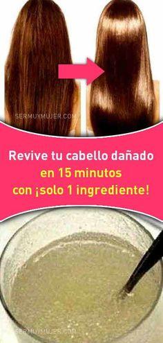 Revive tu cabello dañado en 15 minutos con ¡solo 1 ingrediente! Hair Mask For Growth, Hair Growth Tips, Beauty Secrets, Beauty Hacks, Beauty Tips, Beauty Care, Hair Beauty, Oil Treatment For Hair, Hair Issues