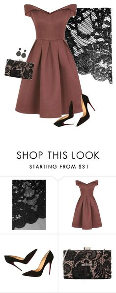 """""""classical music concert"""" by gabriela-krchnacek ❤ liked on Polyvore featuring Wolford, Chi Chi, Christian Louboutin, Love Moschino and Latelita"""