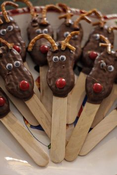 Nutter Butter Reindeer from a Winter ONEderland Birthday Party! See more party ideas at CatchMyParty.com!