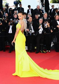 The Week in Style: Selita Ebanks looks ravishing in canary yellow at the Cannes premiere of Blood Ties.