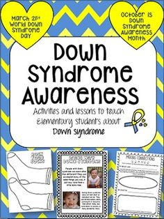 World Down Syndrome Day is use these fun activities to teach about it! disability awareness, children with disabilities Down Syndrome Awareness Month, Down Syndrome Day, Dawn Syndrome, Science Education, Education Quotes, Health Education, Physical Education, Down Syndrome Activities, Disability Awareness Month