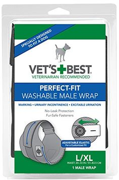 Vet's Best 1 Count Perfect Fit Washable Male Dog Wrap, Large/X-Large ** Continue with the details at the image link.