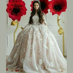 Find More Wedding Dresses Information about Luxury Royal Monarch Ball Gown O Neck Flowers Lace Wedding Dresses 2016 with Sleeves Long Bridal Gowns vestido de noiva LW12,High Quality dress matches,China dresses blue Suppliers, Cheap dresses for mother of the bride from LaceBridal on Aliexpress.com