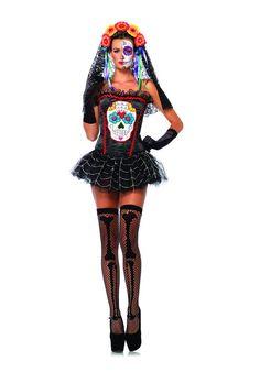 Sugar Skull Costume Bustier http://www.halloweenblur.com/sugar-skull-halloween-costumes/ #halloweencostumes #sugarskull
