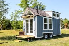 Free Range Cottage - A 16′ tiny house on wheels with double lofts. Built by Free Range Tiny Homes in Eatonton, Georgia | pinned by haw-creek.com
